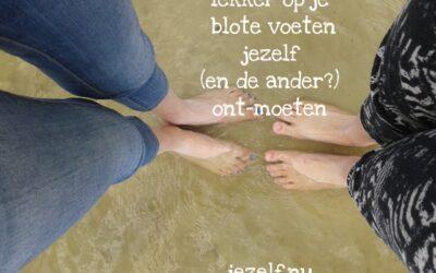 blote voeten…